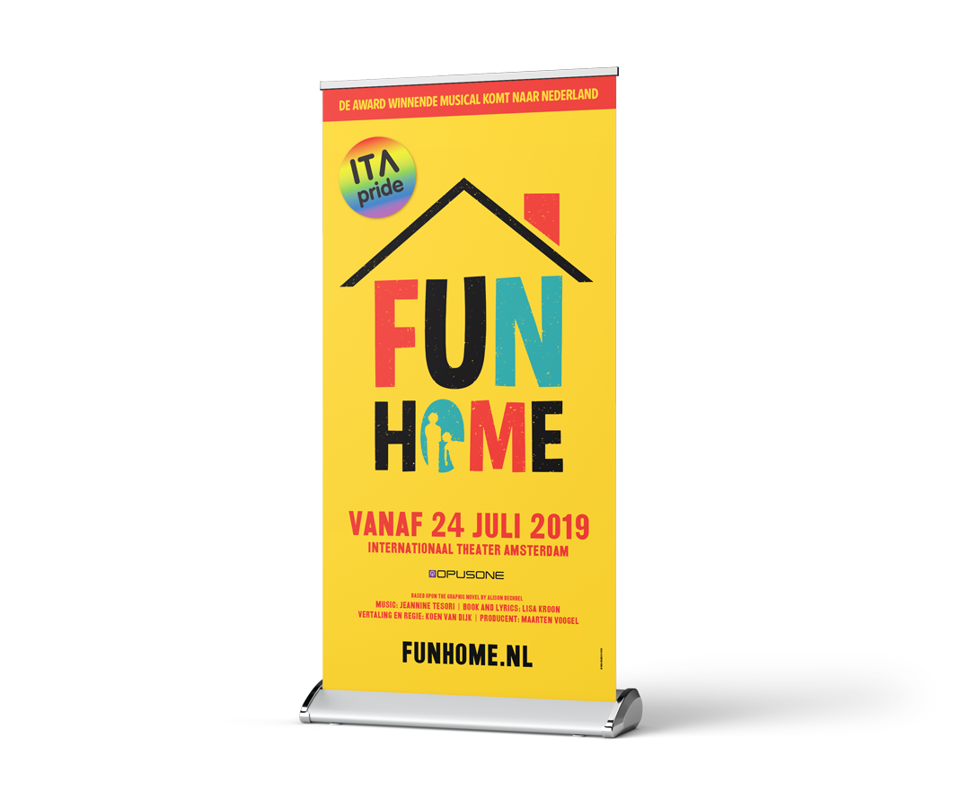 Fun Home roll-up banner